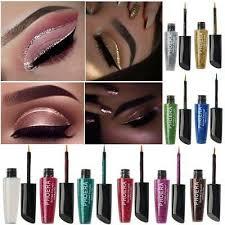 Metallic <b>Shiny Smoky Eyes</b> Eyeshadow Glitter Liquid Eyeliner ...