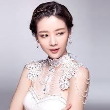<b>Luxury</b> Lace <b>Rhinestone Tassel</b> Shoulder Chain For Wedding Jewelry
