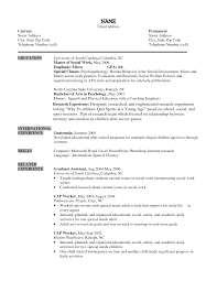 example social work resumes template example social work resumes