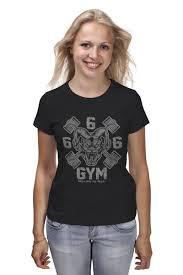 Футболка классическая 666 <b>GYM</b> #1219645 – заказать женские ...