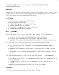 professional salon receptionist templates to showcase your talent    resume templates  salon receptionist