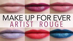 NEW! Make Up For Ever <b>Artist Rouge</b> Lipstick Swatches - YouTube