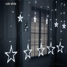 2,5 м светодиодная Рождественская звезда <b>занавес</b> 220В ...