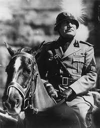 BENITO MUSSOLINI <b>RIDING</b> A <b>HORSE</b> GLOSSY <b>POSTER</b> ...