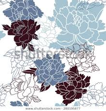 <b>Japanese Style</b> Seamless Floral Pattern <b>Peonies</b> Stock Vector ...