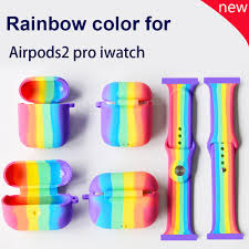 Suitable for AirPods Pro <b>Silicone Case Rainbow</b> Apple <b>Headphone</b> ...