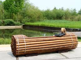 pile isle bamboo bench building bamboo furniture