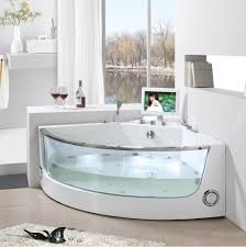 corner bathtub ideas features white tub accent and glass front side alluring small home corner