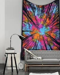 Tie Dye Forest Tapestry Exclusive Psychedelic Wall Art Perfect for <b>Gift</b>