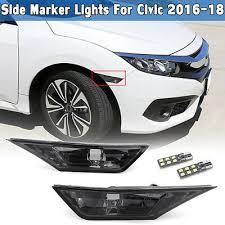 Smoked For Honda Civic 2016-<b>2018</b> Side Marker Signal <b>Lights</b> ...