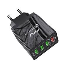 <b>FPU 30W Quick Charge</b> QC3.0 Fast Charger 4 Ports USB Portable ...