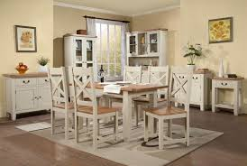 cream compact extending dining table:  large   extending dining table