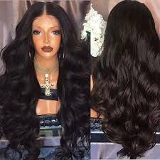 Wigs Big Hair <b>Women's</b> Long Black for Full Wavy <b>Fashion Wave</b> ...