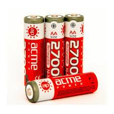 Купить <b>Аккумулятор AcmePower</b> Ni-Mh 2700mAh AA-size (4 шт) - в ...