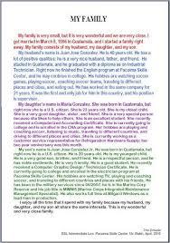 example english essay my family   stmaryssurajgarhacom example english essay my family