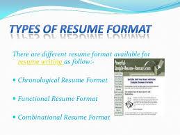 type of resume format  seangarrette cotype