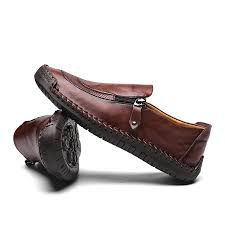 5709 <b>Spring And Autumn Men's</b> Shoes Leather Handmade Peas ...