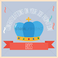 congratulations on your job promotion vector image  congratulatory message on job promotion