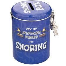 snoring money tins