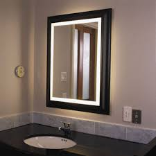picture of elegant lighted makeup wall mirror design idea feat marble bathroom countertop and bathroom makeup lighting