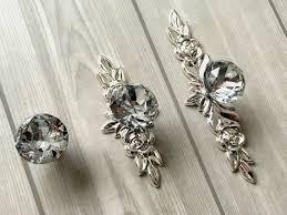 Crystal Knob Shabby <b>Chic Drawer Knobs</b> Glass <b>Dresser</b> Knob Pulls ...