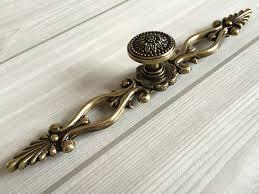 63 large drawer pulls handles antique bronze sunflower rustic kitchen cabinet hardware handle pull knobs antique hardware furniture pulls