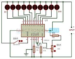 battery level indicator circuit using lm3914 cars work on and battery level indicator circuit using lm3914