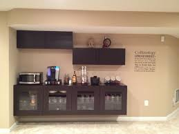 chic espresso floating liquor cabinet ikea made of wood on cream wall for home bar room bar room furniture home