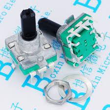 <b>50pcs</b>/<b>lot</b> EC16 half shaft 20 mm long handle audio encoder 360 ...