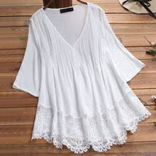 <b>Туника</b>, кружевная белая <b>блуза</b> с v-образным вырезом ...