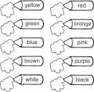 Раскраски на уроке английского языка