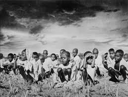 so many hungers south magazine issue documenta  sunil janah orphans waiting for food at a famine relief center during the famine in orissa 1944