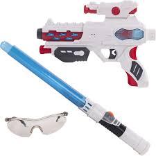 Игровой набор <b>Fun Red</b>: <b>бластер</b>, меч, очки, со звуковыми и ...