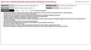 Mri Service Engineer Resumes Field Service Engineer Resume