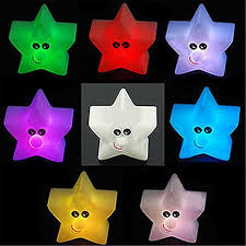Nuohuilekeji <b>Shiny</b> Star Shape 7-<b>Color Changing</b> Night Light ...