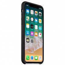 <b>Кожаный чехол Apple</b> для iPhone X, чёрный цвет