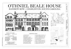 Rainbow Row   WikipediaDrawing  Othniel Beale House and Rainbow Row  Historic American Buildings Survey