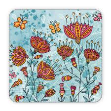 Костер (подставка под кружку) Цветы и бабочки купить на ...