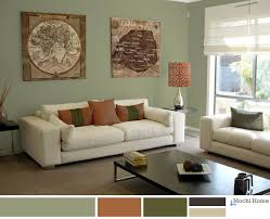 warm sage green living room with rusty orange see website for details burnt orange living room furniture