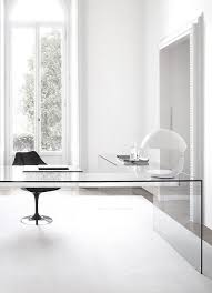 adorable modern office design concepts ideas with l shaped clear glass office table also black adorable glass top office