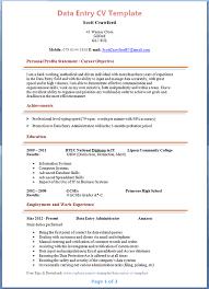 data entry cv template   tips and download – cv plazadata entry cv template