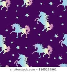 cartoon unicorn star