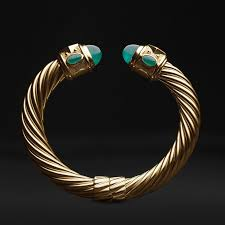 <b>David Yurman limited</b>-edition Renaissance bracelet in 18k gold with ...