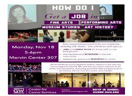 how do i get a job in fine arts performing arts museum studies arts career program flyer