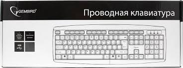 Мембранная <b>клавиатура Gembird KB-8351U-BL</b> USB, черный ...