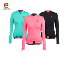LONG AO Cycling clothes women Cycling jersey Long sleeve bike ...