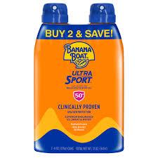 Banana Boat Ultra <b>Sport Sunscreen</b> C-spray <b>SPF 50</b>+, 12 oz Twin ...