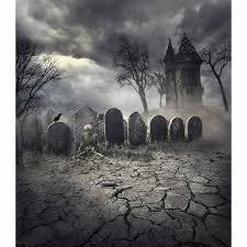 <b>Allenjoy photo background Halloween</b> Grave Skeleton castle tree ...