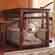 image of wood dog crate furniture style dog crates