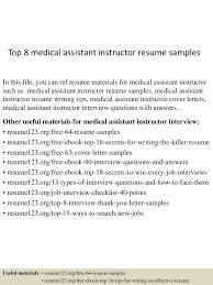 topmedicalassistantinstructorresumesamples lva app thumbnail jpg cb